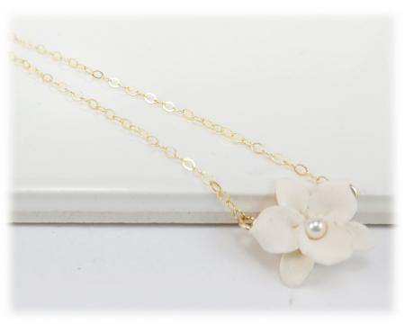 Tiny Orchid Simple Necklace
