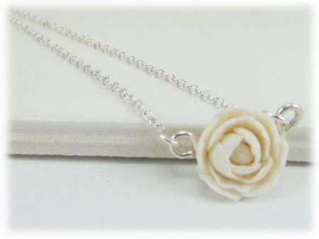Tiny Peony Simple Necklace