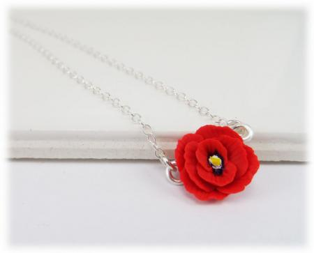 Tiny Poppy Simple Necklace