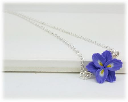 Tiny Purple Freesia Simple Necklace
