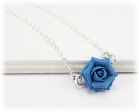 Tiny Rose Simple Necklace