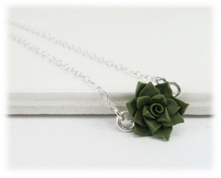 Tiny Succulent Simple Necklace