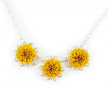 Trio Dandelion Necklace