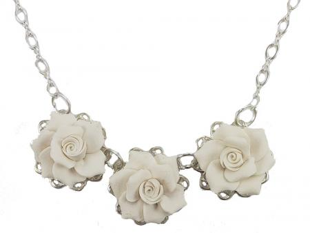 Trio Gardenia Necklace