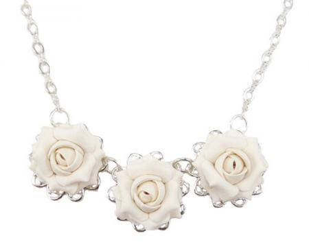 Trio Rose Necklace