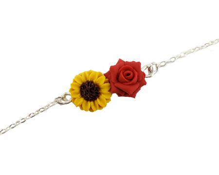 Two Flower Anklet or Bracelet