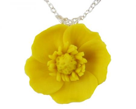 Yellow Buttercup Necklace