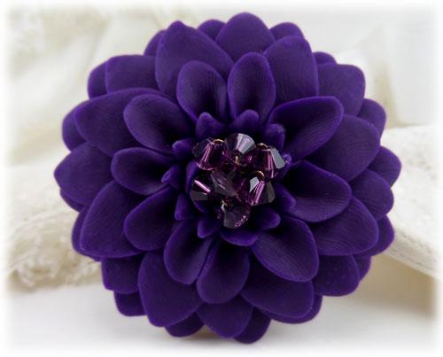 742167f24b2 Large Purple Chrysanthemum Brooch   Large Purple Flower Lapel - Stranded  Treasures