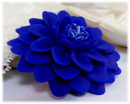 blue chrysanthemum brooch jewelry stranded treasures