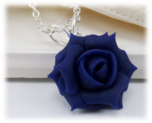 Blue Rose Necklace Stranded Treasures