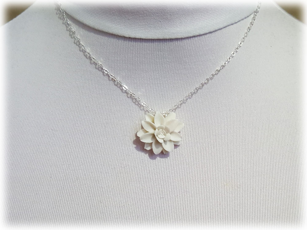 Dahlia Necklace Dahlia Pendant Dahlia Jewelry