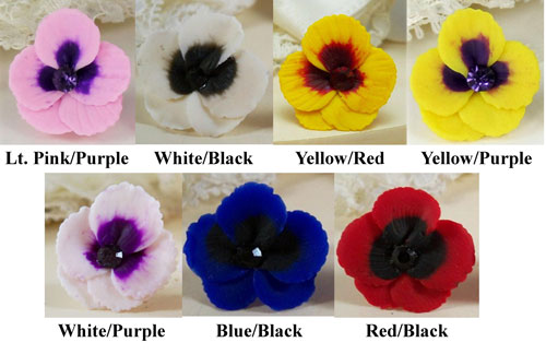 Red pansy necklace viola flower pendant pansy flower pendant necklace mightylinksfo