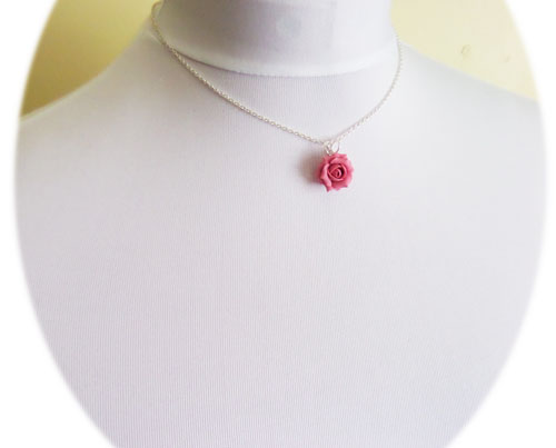 Pink rose necklace stranded treasures pink rose necklace audiocablefo
