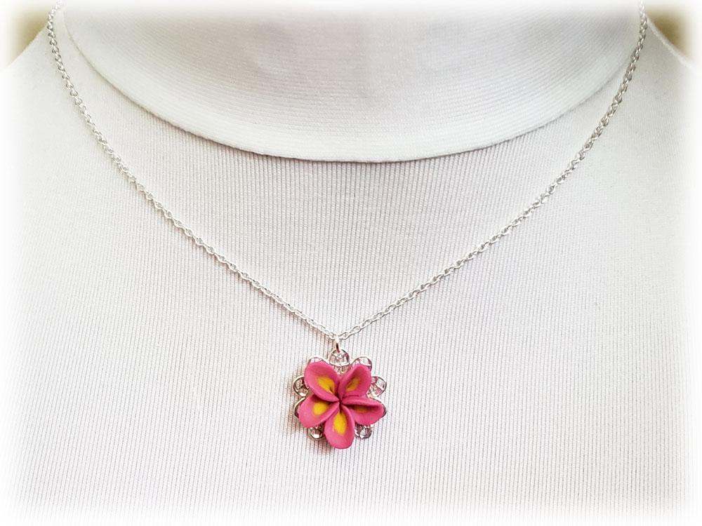 Plumeria Charm Necklace Plumeria Jewelry Stranded Treasures