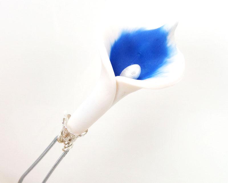 royal blue calla lily hair pins. Black Bedroom Furniture Sets. Home Design Ideas