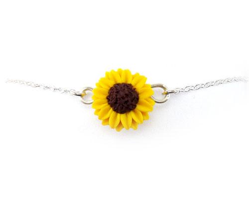 Sunflower Anklet Sunflower Ankle Bracelet Stranded