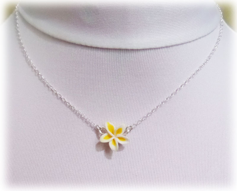 Tiny plumeria necklace simple flower necklace tiny plumeria simple necklace aloadofball Gallery