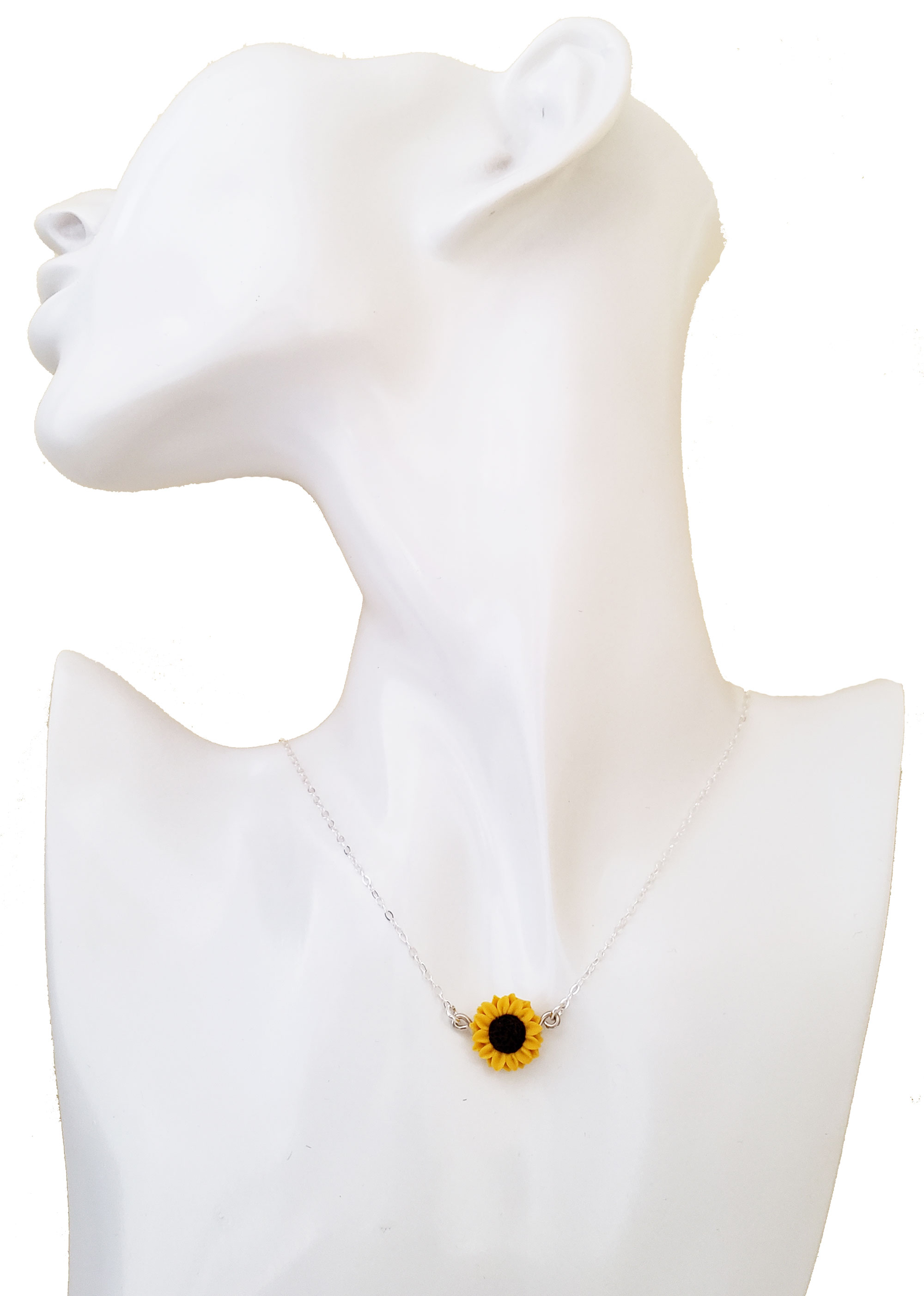 Tiny Sunflower Necklace Simple Flower Necklace