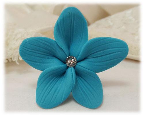 Turquoise Hair Flowers Aqua Flower Wedding Hair Pins