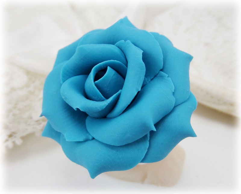 Large Turquoise Rose Ring