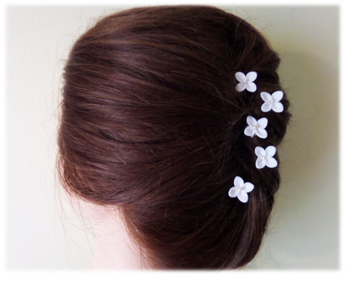 Small white flowers for hair flowers healthy small hydrangea hair pins white hydrangea hair pins white hydrangea hair clips mightylinksfo