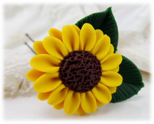 28bd460f6898f Sunflower Leaf Hair Pins