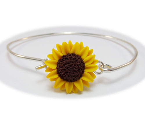 Sunflower jewelry a collection of handmade sunflower designs mightylinksfo