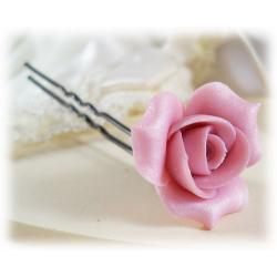 Pink Rosebud Hair Pin