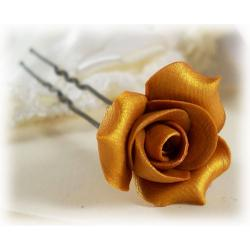 Gold Rosebud Hair Pins