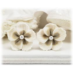 Bridal Hibiscus Earrings