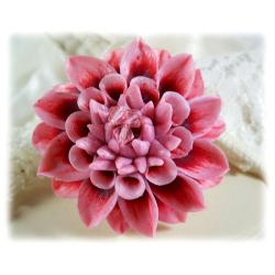 Pink Dahlia Brooch Pin
