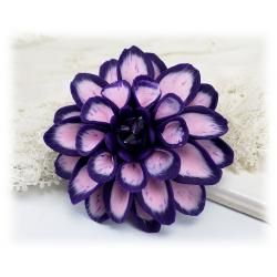 Purple Dahlia Brooch Pin