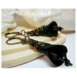 Filigree Calla Lily Earrings - Large