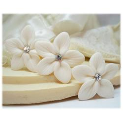 Stephanotis Crystal Hair Pins