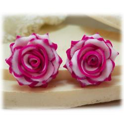 Blushing Rose Earring Studs