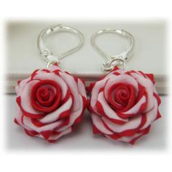 Double Delight Rose Earrings