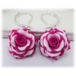 Blushing Rose Drop Earrings