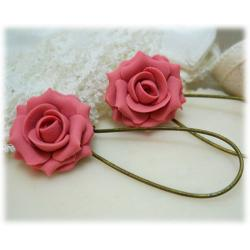 Blush Pink Rose Earrings