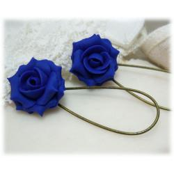 Indigo Rose Drop Earrings