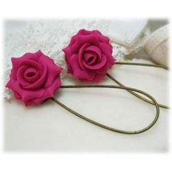 Orlando Pink Rose Earrings