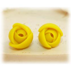 Tiny Yellow Flower Earrings