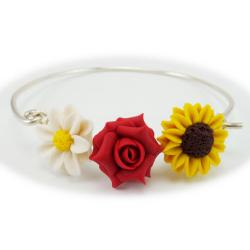 Daisy Rose Sunflower Garden Bracelet