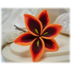 Orange Lily Hair Pins