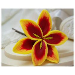 Yellow Lily Hair Pins