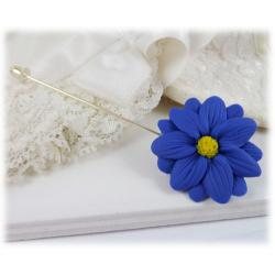 Blue Aster Stick Pin