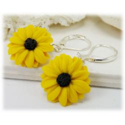 Black Eyed Susan Drop Earrings