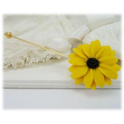 Black Eyed Susan Brooch Stick Pin