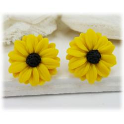 Black Eyed Susan Stud Earrings