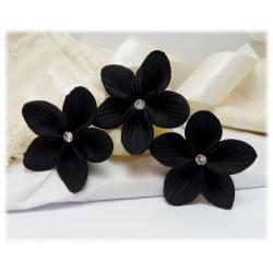 Black Flower Hair Pins
