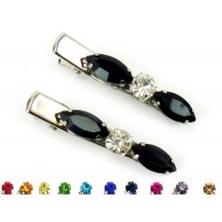 Black Rhinestone Hair Clips